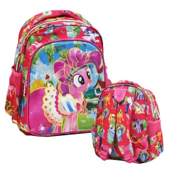 Onlan My Little Pony 6D Timbul Lapis Anti Gores Tas Ransel PlayGroup Import - Pink