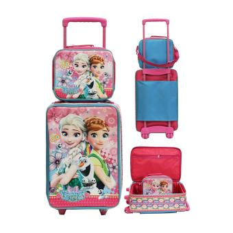 Onlan Set Koper Lunch Bag Anak Bahan Tahan Air - Pink