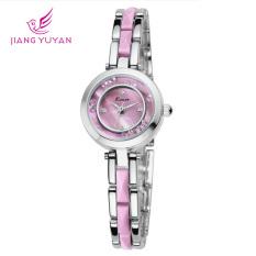 JIANGYUYAN 2015 New Women Dress Fashion Watch Quartz Wristwatch Casual Watches Bracelet Kimio Watches (Pink) (Intl)
