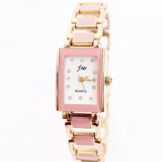 JIANGYUYAN Girls' Dresses New Fashion Bracelet Rhinestone Luxury Quartz Watches Rose Gold Woman (Pink) (Intl)