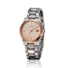 Ooplm OCHSTIN Counter Brand Tide Female Form Steel Waterproof Ms. Quartz Watch Waterproof Watch (Rose Gold)