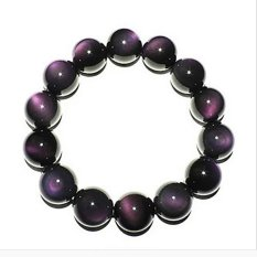 Opening Of Natural Ice Kinds Of Rainbow Obsidian Eye Bracelet Men Bracelets Female Models Lucky Transporter Beads Lap Gift -A Grade Rainbow Obsidian Eye About 8MM European and American Big-name High-end Luxury Retro (Intl)