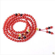Opening Of Natural Red Agate Black Agate Beads Bracelet Five Co-op Zodiac Lucky Mascot Men And Women - Students Chaumat (Red Agate) (Intl)
