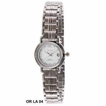 Oremte Analog Date LA 04 - Jam Tangan Wanita - Putih