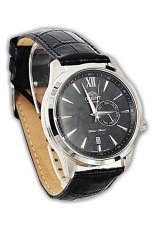 Orient Jam Tangan Pria-hitam-Strap Kulit-fes00005b Automatic (...one Size)