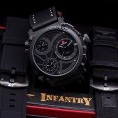 Original Swiss Army Infantry Limited Edition - Jam tangan Pria Premium Leather Strap