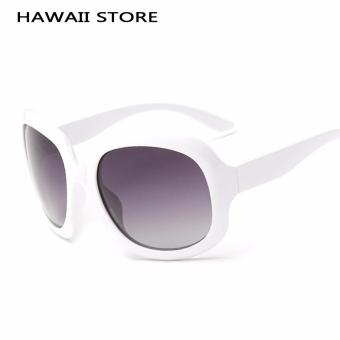 Original Vintage Oval Lens Plastic UV400 Elegant Women's Polarized Sun Glasses High Quality Outdoor Driving Brand Sunglasses - Intl