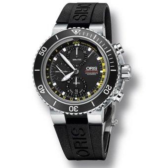 Oris Aquis Depth Gauge Chronograph Automatic 774 7708 4154 SET Jam Tangan  Pria - Hitam d2a8965fef