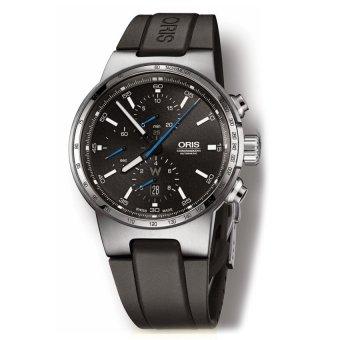 Oris Williams F1 Team Williams Chronograph Black Dial Black Rubber 774 7717  4154 RS Men s - a2b24f190c