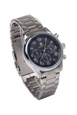 Orkina Men's SIlver Stainless Steel Band Watch P0033