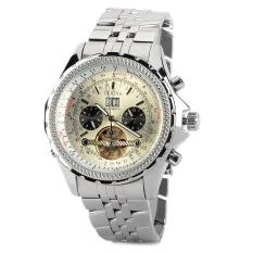 ORKINA Men's Silver Stainless Steel Strap Wrist Watch KC082