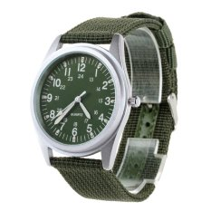ORKINA P104 Men's Military Style Fashionable Watches W / Luminous Pointer -Army Green + Silver (Intl)
