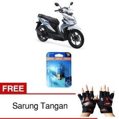 Osram Lampu Depan Motor Honda Beat 62337CB 35/35 12V P15D-25-1 Cool Blue - Gratis Sarung Tangan