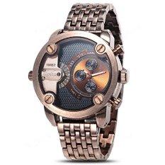 Oulm Luxury Brand Men Full Steel Watch Male Antique Clock Quartz Mens Military Watch (Intl)