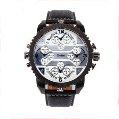 OULM Luxury Brand Sports Men Watches High Quality Male Leather Strap Quartz Watch (Intl)