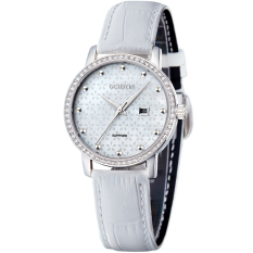 Oxoqo OCHSTIN Augustine Stearns Genuine Female Fashion Diamond Watches Really Belt Watch Luxury Quartz Watch Female Watch Waterproof (White)