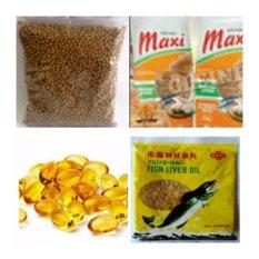 paket maxi cat food + minyak ikan