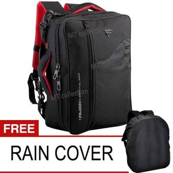 Palazzo R3x1+ Tas Ransel Backpak Keren ,3in1 + Free Rain Cover - Hitam