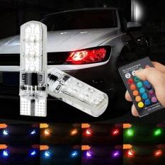 PAlight 2 Pcs T10 5050SMD 6LED RGB Car Light Remote Controll - intl
