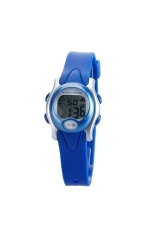 PASNEW PSE-243 Waterproof Children Boys Girls LED Digital Sports Wrist Watch with Date / Week / Alarm / Stopwatch Blue