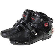 Pengendara sepeda Pro A9003 sepatu bot sepeda motor - hitam
