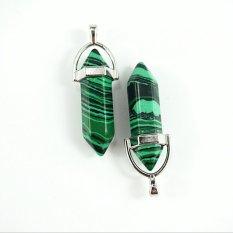 Women Pendant Bead Gemstone Rock Crystal Green (Intl)