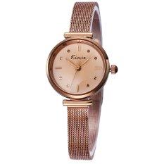 Perfect KIMIO New Fashion Watch Women Dress Watches Rose Gold Full Steel Analog Quartz Ladies Fashion Casual Wrist Watches 2016 (Gold)