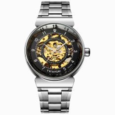 Perfect TEVISE Genuine Hollow Automatic Mechanical Male Table Through The End Of The Trend Of Korean Fashion Waterproof Watch Male Form New (Black) - Intl