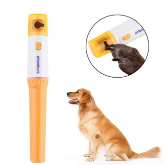 Pet Paws Dog Cats Grooming Grinding Painless Nail Grinder TrimmerClipper - intl