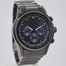 POLICE PL.15001JSU/61M - Chronograph - Jam Tangan Pria - Bahan Tali Stainless Steel - Hitam