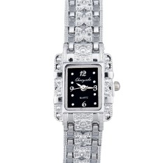 Popular Fashion Lady Bling Jewelry Stainless Steal Analog Wrist Watches Black (Intl)