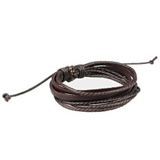 Popular Men's Women's Jewelry Wrap Multilayer Faux Leather Braided Rope Wristband Love Bracelets & Bangles