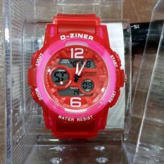PROMO D-Ziner Dz-8138 Sporty - Jam Tangan Wanita Original Anti Air -Red