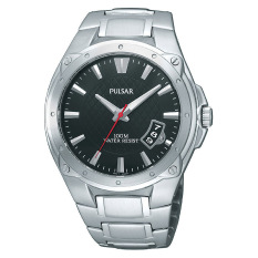 Pulsar Watch Silver Stainless-Steel Case Stainless-Steel Bracelet Mens NWT + Warranty PXH823