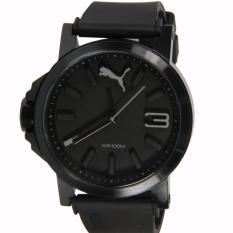 Puma Jam Tangan Pria Puma PU103462015 Ultrasize Analog Display Left-Handed Black Sport Watch