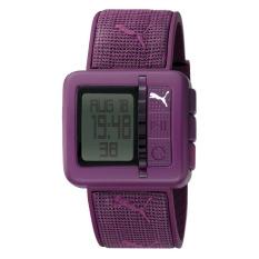 Puma Watch Purple Plastic Case Polyurethane Bracelet Ladies NWT + Warranty PU910492004