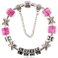Purple Love Bracelet Pan Big Fashion Personality Assembly Glass Beaded Bracelet PDR036-19