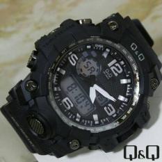Q&Q Dual Time - Jam Tangan Sport Pria - Rubber Strap - Q&QQ2209
