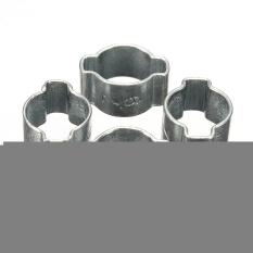 Qiaosha 10Pcs 7-9mm Zinc Plated 2Ear Clamp Air Fuel Hose Petrol Pipe Tube O Clip NEW - Intl