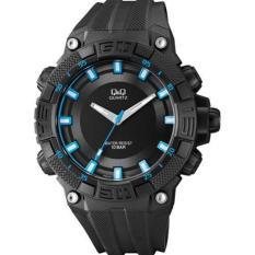 QnQ Analog Jam Tangan - Tali rubber - Black - VR60J007Y
