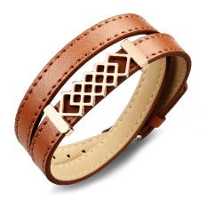Queen European Style Punk Retro Leather Bracelet Jewelry Wholesale (Coffee)