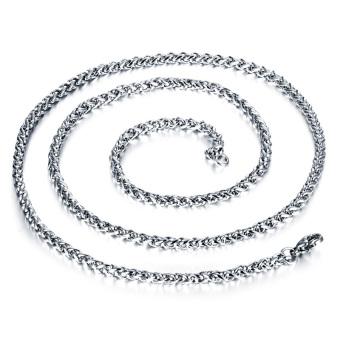 Queen Korea 316L Titanium Steel Women / Men / Unisex Necklace Jewelry Wholesale (Silver) &#8211.4 Mm X 550 Mm