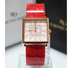 Raymnd Daniel 219 - Jam Tangan Wanita - RD 219 - Rose Gold Red - Stainless Steel - Anti Air (Red)