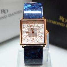 Raymond Daniel 219 - Jam Tangan Wania - RD 219 - Rose Gold Blue - Stainless Stee - Anti Air (Blue)
