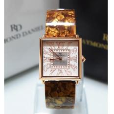 Raymond Daniel 219 - Jam Tangan Wanita - RD 219 - Rose Gold Brown - Stainless Steel - Anti Air (Brown)
