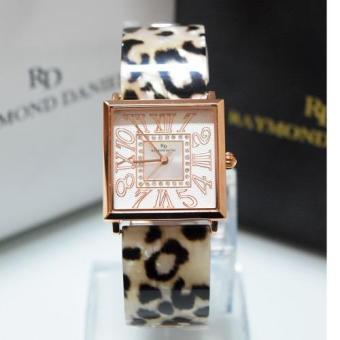 Raymond Daniel 219 - Jam Tangan Wanita - RD 219 - Rose Gold Leopard - Stainless Steel - Anti Air (Multicolor)