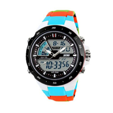 Readeel Men Sports Watches Waterproof Fashion Casual Quartz Watch Digital & Analog Military Multifunctional Men's Sports Watches (Blue)