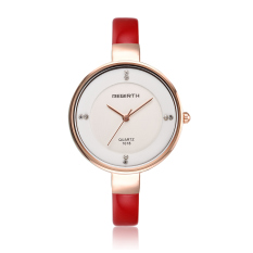 REBIRTH RE001 Stainless Steel Case Leather Strap Women Lady Luxury Rhinestone Classic Brand Design Wrist Quartz Watch