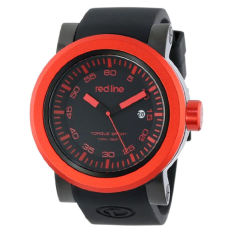 Red Line Men's RL-50049-BB-01-RDB Torque Sport Black Dial Silicone Band Watch (Intl)