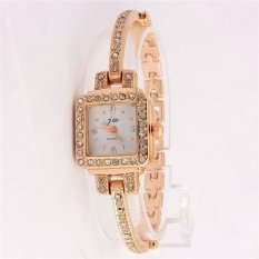 Regal Jw Full Diamond Luxury Watches Genuine New Korean Fashion Women Watches Rose Gold Bracelet Watch (Gold) (Intl)